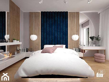 Aranżacje wnętrz - Sypialnia: Projekt willi 300 m2 cz. II / Bochnia - Duża szara sypialnia małżeńska, styl nowoczesny - BIG IDEA studio projektowe. Przeglądaj, dodawaj i zapisuj najlepsze zdjęcia, pomysły i inspiracje designerskie. W bazie mamy już prawie milion fotografii!