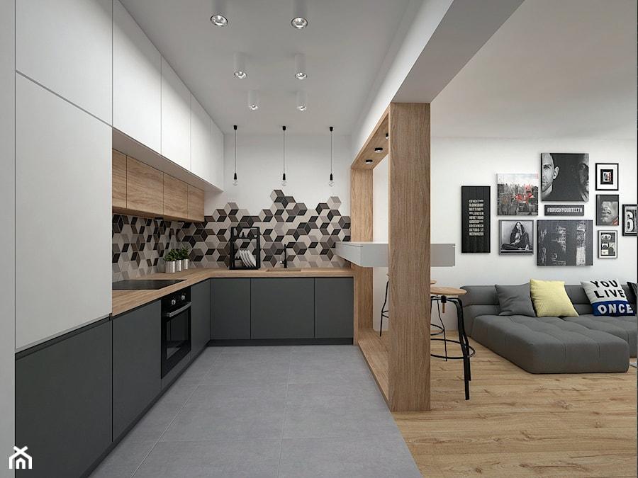 Projekt Mieszkania 35 M2 Kraków średnia Otwarta Biała