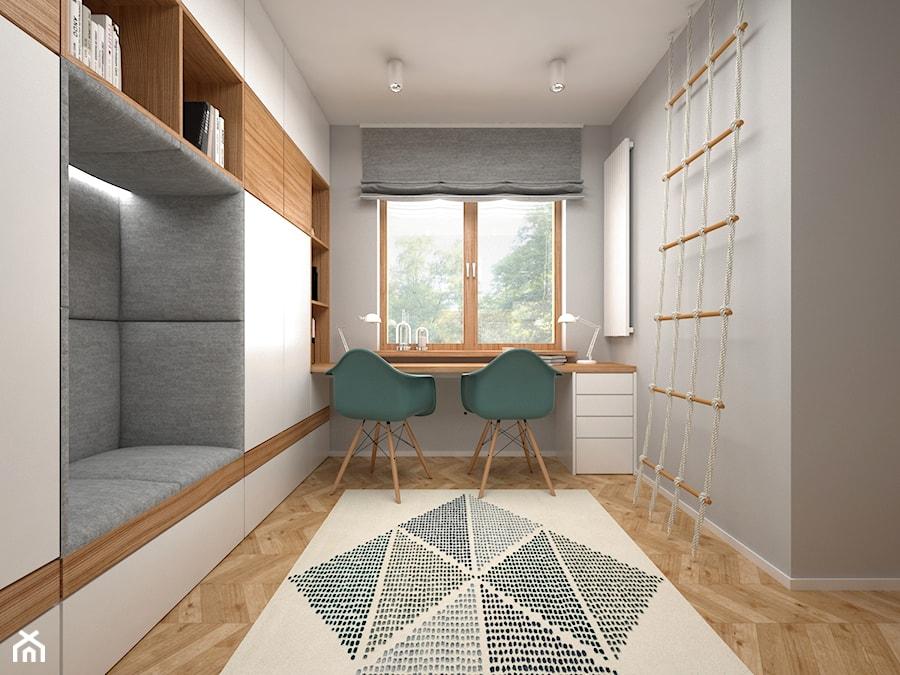 Aranżacje wnętrz - Pokój dziecka: Projekt mieszkania 30 m2 / Kraków - Mały szary pokój dziecka dla chłopca dla dziewczynki dla ucznia dla nastolatka, styl nowoczesny - BIG IDEA studio projektowe. Przeglądaj, dodawaj i zapisuj najlepsze zdjęcia, pomysły i inspiracje designerskie. W bazie mamy już prawie milion fotografii!