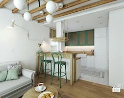 Projekt mieszkania 100m2 / Kraków / Kuchnia, salon - zdjęcie od BIG IDEA studio projektowe - Homebook