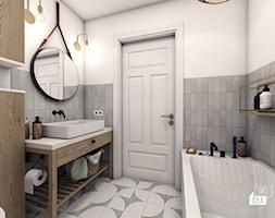Projekt wnętrza domu bliźniaka Scandi Boho 72m2 / Węgrzce Wielkie / Łazienka główna - zdjęcie od BIG IDEA studio projektowe - Homebook