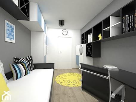 Aranżacje wnętrz - Pokój dziecka: Projekt pokoju dla dziecka 17 m2 / Bochnia - Średni biały szary pokój dziecka dla chłopca dla nastolatka, styl minimalistyczny - BIG IDEA studio projektowe. Przeglądaj, dodawaj i zapisuj najlepsze zdjęcia, pomysły i inspiracje designerskie. W bazie mamy już prawie milion fotografii!