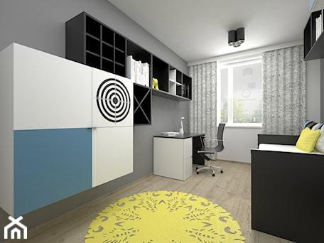 Aranżacje wnętrz - Pokój dziecka: Projekt pokoju dla dziecka 17 m2 / Bochnia - Średni szary pokój dziecka dla chłopca dla ucznia dla nastolatka, styl minimalistyczny - BIG IDEA studio projektowe. Przeglądaj, dodawaj i zapisuj najlepsze zdjęcia, pomysły i inspiracje designerskie. W bazie mamy już prawie milion fotografii!