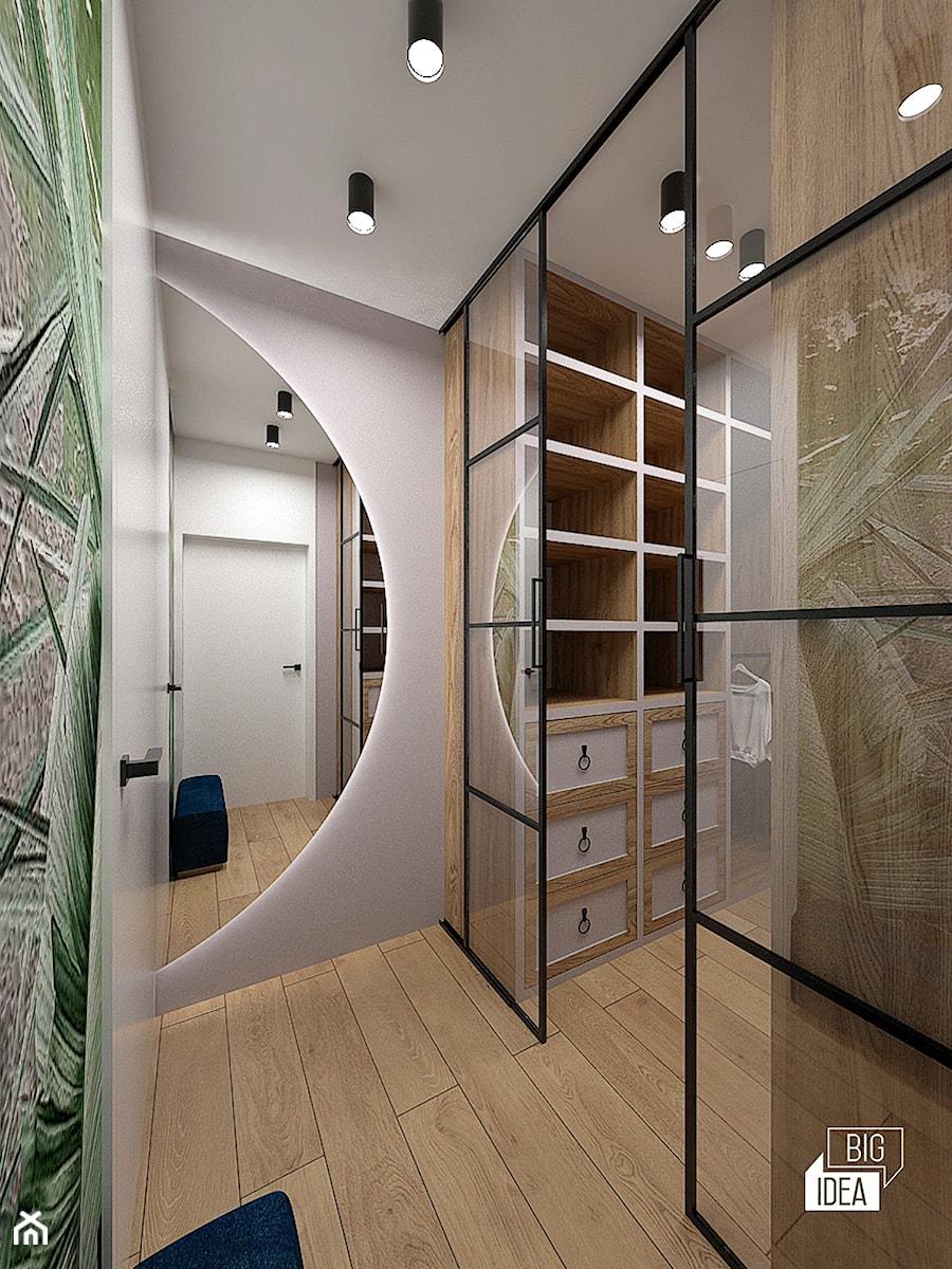 Projekt willi 300 m2 cz. II / Bochnia - Garderoba, styl nowoczesny - zdjęcie od BIG IDEA studio projektowe