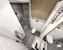 Projekt wnętrza domu bliźniaka Scandi Boho 72m2 / Węgrzce Wielkie / Łazienka - zdjęcie od BIG IDEA studio projektowe - Homebook