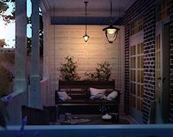 Lampy zewnętrzne - Mały taras z przodu domu z tyłu domu, styl vintage - zdjęcie od Philips Lighting