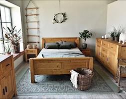 Sara - Mała szara sypialnia małżeńska, styl rustykalny - zdjęcie od SEART.PL - Homebook