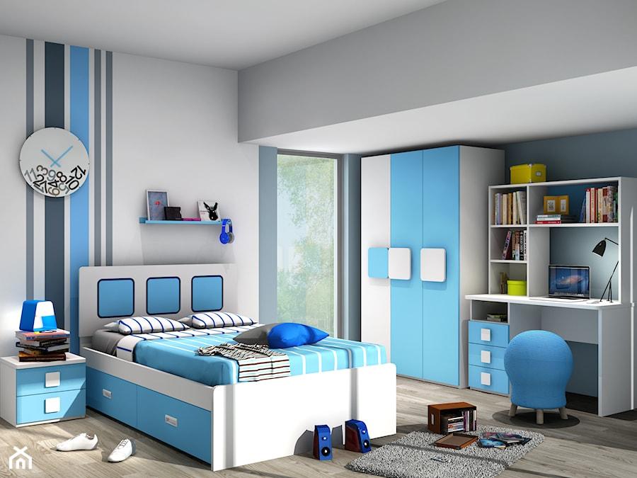 pok243j dla ch�opca kolor niebieski i bia�y zdjęcie od