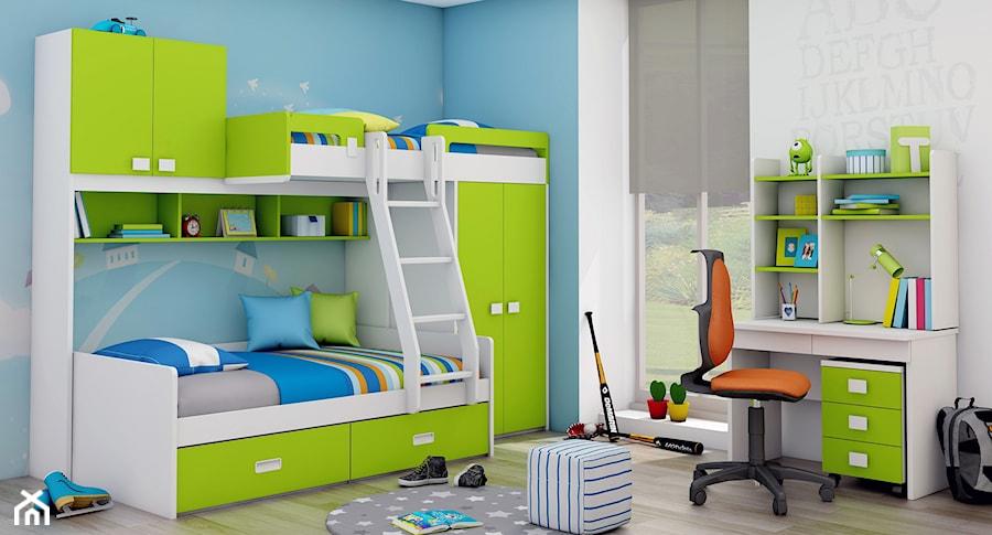łóżko Piętrowe Dla Dzieci Z Szafą Półkami Regałem
