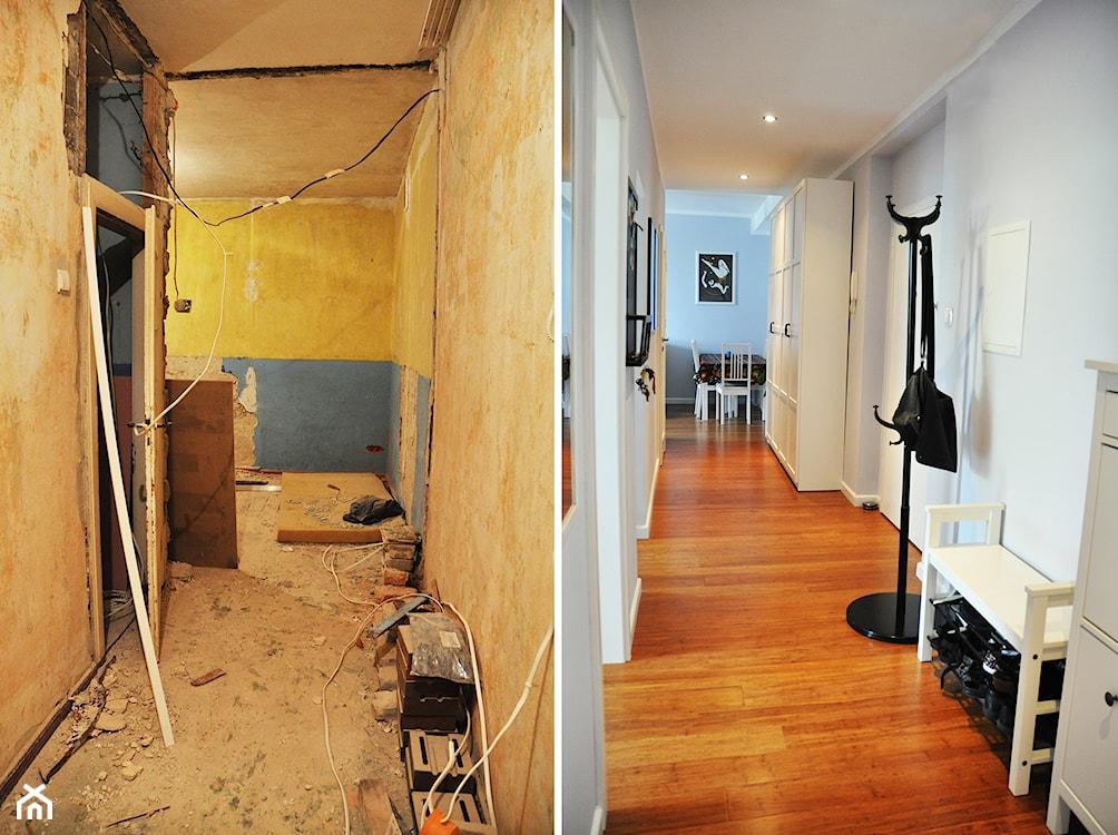 podłoga przed i po metamorfozie