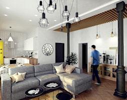 Salon w domu jednorodzinnym w stylu loft - zdjęcie od Alina Shevchenko Interiors - Homebook