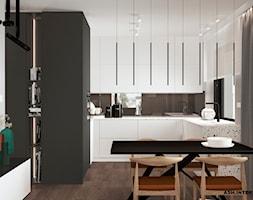 Salon i kuchnia w minimalistycznym stylu. - zdjęcie od Alina Shevchenko Interiors - Homebook
