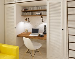 Biuro domowe - zdjęcie od Alina Shevchenko Interiors - Homebook