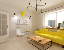 Salon w stylu Skandynawskim - zdjęcie od Alina Shevchenko Interiors - Homebook
