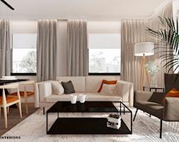 Salon w minimalistycznym stylu - zdjęcie od Alina Shevchenko Interiors - Homebook