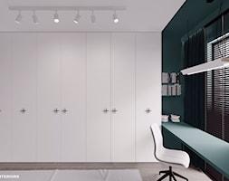 Pokój dziecka w minimalistycznym stylu w odcieniach turkusu i bieli - zdjęcie od Alina Shevchenko Interiors - Homebook