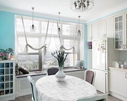 Kuchnia o kształcie litery L z widokiem panoramicznym w stylu klasyki amerykańskiej - zdjęcie od Alina Shevchenko Interiors - Homebook