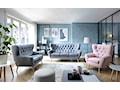 Elegancka sofa Voss, wysokie nóżki, kanapa z uszami, Gala Collezione