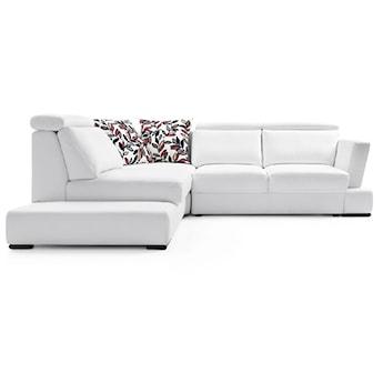Biały narożnik Play, elegancki, minimalistyczny, Gala Collezione