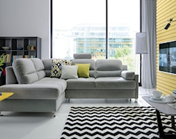 FIORINO (Gala Collezione) - Mały biały żółty salon, styl nowoczesny - zdjęcie od Fabryka Mebli GALA COLLEZIONE