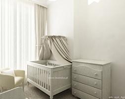 Sypialnia dziecka - Mały beżowy pokój dziecka dla chłopca dla dziewczynki dla niemowlaka - zdjęcie od KI design Katarzyna Iwańska