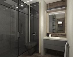 MĘSKIE PODDASZE. - Mała łazienka w bloku w domu jednorodzinnym bez okna, styl industrialny - zdjęcie od KWojciechowska Studio