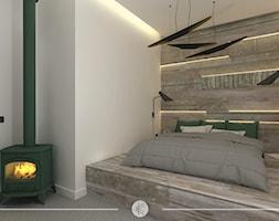 LOFTOWY CHARAKTER. - Mała szara sypialnia małżeńska, styl eklektyczny - zdjęcie od KWojciechowska Studio