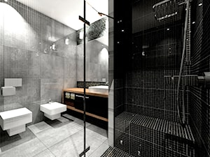 Łazienka - Średnia szara łazienka, styl nowoczesny - zdjęcie od Joanna Bluemer