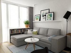 mieszkanie 38 m2 metamorfoza - Mały szary salon, styl skandynawski - zdjęcie od Grafika i Projekt architektura wnętrz