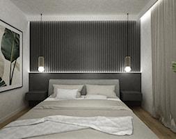dom biel i grafit - Sypialnia, styl nowoczesny - zdjęcie od Grafika i Projekt architektura wnętrz - Homebook