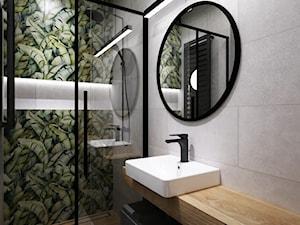 mieszkanie 90m2 z rowerem - Mała szara zielona łazienka bez okna, styl nowoczesny - zdjęcie od Grafika i Projekt architektura wnętrz