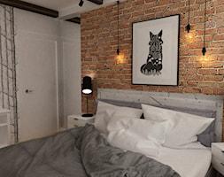 projekty pojedynczych pomieszczeń - Średnia biała sypialnia małżeńska, styl skandynawski - zdjęcie od Grafika i Projekt architektura wnętrz