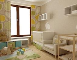 pokój dziecięcy - Średni szary pokój dziecka dla chłopca dla dziewczynki dla niemowlaka, styl skandynawski - zdjęcie od Grafika i Projekt architektura wnętrz