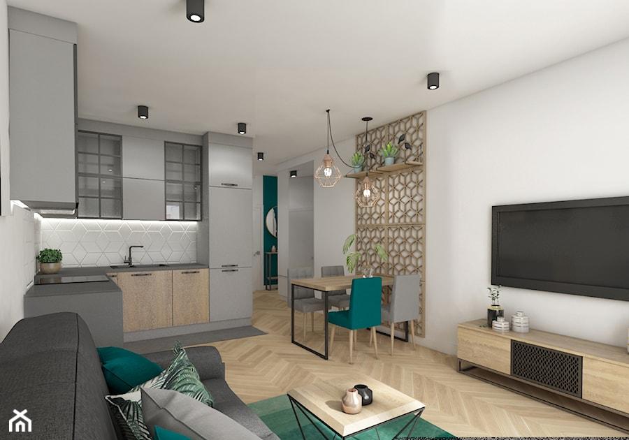 Mieszkanie 40m2 Lekko Industrialne Mała Otwarta Biała