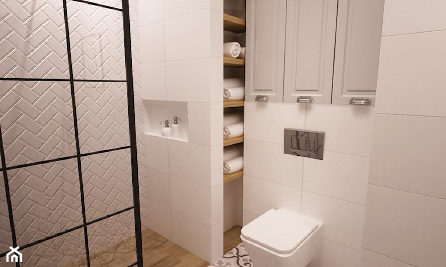 Aranżacje wnętrz - Łazienka: mieszkanie Mokotów nowocześnie klasycznie 70m2 - Mała łazienka w bloku w domu jednorodzinnym bez okna, styl klasyczny - Grafika i Projekt architektura wnętrz. Przeglądaj, dodawaj i zapisuj najlepsze zdjęcia, pomysły i inspiracje designerskie. W bazie mamy już prawie milion fotografii!