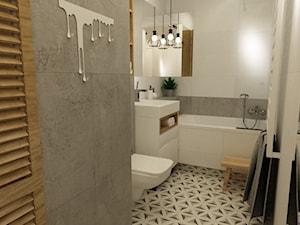 łazienki w stylu skandynawskim - Średnia łazienka dla dzieci bez okna, styl nowoczesny - zdjęcie od Grafika i Projekt architektura wnętrz