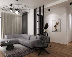 dom biel i grafit - Salon, styl nowoczesny - zdjęcie od Grafika i Projekt architektura wnętrz - Homebook