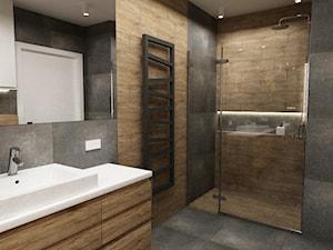 łazienki w stylu skandynawskim - Mała łazienka, styl minimalistyczny - zdjęcie od Grafika i Projekt architektura wnętrz