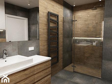 Aranżacje wnętrz - Łazienka: łazienki w stylu skandynawskim - Mała łazienka, styl minimalistyczny - Grafika i Projekt architektura wnętrz. Przeglądaj, dodawaj i zapisuj najlepsze zdjęcia, pomysły i inspiracje designerskie. W bazie mamy już prawie milion fotografii!