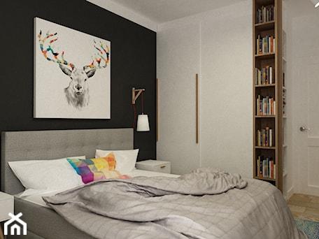 Aranżacje wnętrz - Sypialnia: sypialnie nowoczesne - Średnia czarna sypialnia małżeńska, styl vintage - Grafika i Projekt architektura wnętrz. Przeglądaj, dodawaj i zapisuj najlepsze zdjęcia, pomysły i inspiracje designerskie. W bazie mamy już prawie milion fotografii!
