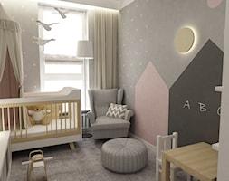 pokój dziecięcy - Mały szary pokój dziecka dla chłopca dla dziewczynki dla ucznia dla niemowlaka dla malucha, styl nowoczesny - zdjęcie od Grafika i Projekt architektura wnętrz