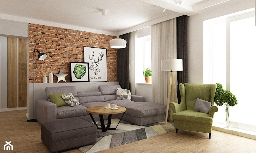 Aranżacje wnętrz - Salon: dom ok 100m2 metamorfoza - Średni biały salon, styl nowoczesny - Grafika i Projekt architektura wnętrz. Przeglądaj, dodawaj i zapisuj najlepsze zdjęcia, pomysły i inspiracje designerskie. W bazie mamy już prawie milion fotografii!