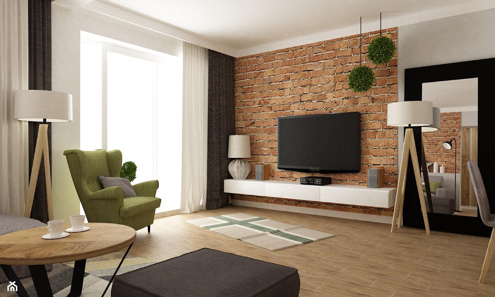 dom ok 100m2 metamorfoza - Średni szary biały salon, styl nowoczesny - zdjęcie od Grafika i Projekt architektura wnętrz - Homebook