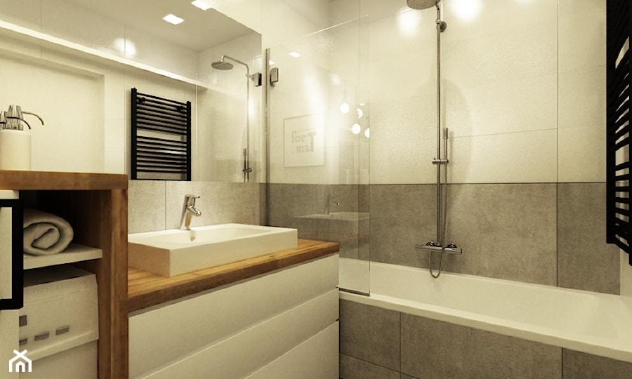 Mieszkanie 35m2 Pod Wynajem łazienka Styl Nowoczesny