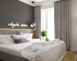 mieszkanie 80m2 metamorfoza - Średnia szara sypialnia małżeńska, styl industrialny - zdjęcie od Grafika i Projekt architektura wnętrz