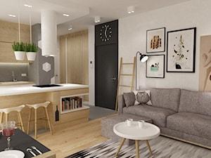 mieszkanie na ochocie 50m2  kolor biel,szarość,dąb