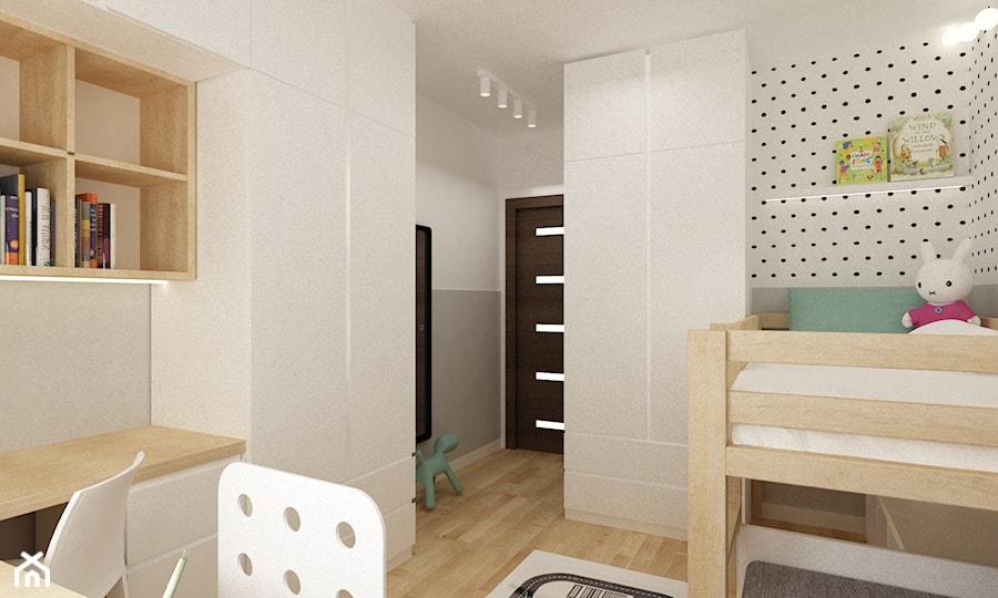 pokój dziecięcy - Średni szary pokój dziecka dla chłopca dla dziewczynki dla ucznia dla malucha, styl skandynawski - zdjęcie od Grafika i Projekt architektura wnętrz