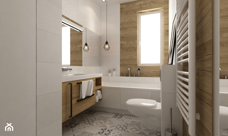 Aranżacje wnętrz - Łazienka: łazienki w stylu skandynawskim - Średnia biała łazienka z oknem, styl skandynawski - Grafika i Projekt architektura wnętrz. Przeglądaj, dodawaj i zapisuj najlepsze zdjęcia, pomysły i inspiracje designerskie. W bazie mamy już prawie milion fotografii!