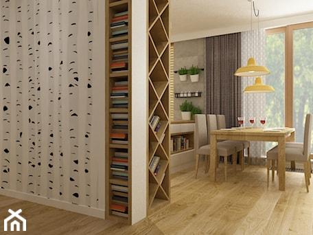 Aranżacje wnętrz - Hol / Przedpokój: apartament bemowo ok.100m2 - Średni biały hol / przedpokój, styl nowoczesny - Grafika i Projekt architektura wnętrz. Przeglądaj, dodawaj i zapisuj najlepsze zdjęcia, pomysły i inspiracje designerskie. W bazie mamy już prawie milion fotografii!