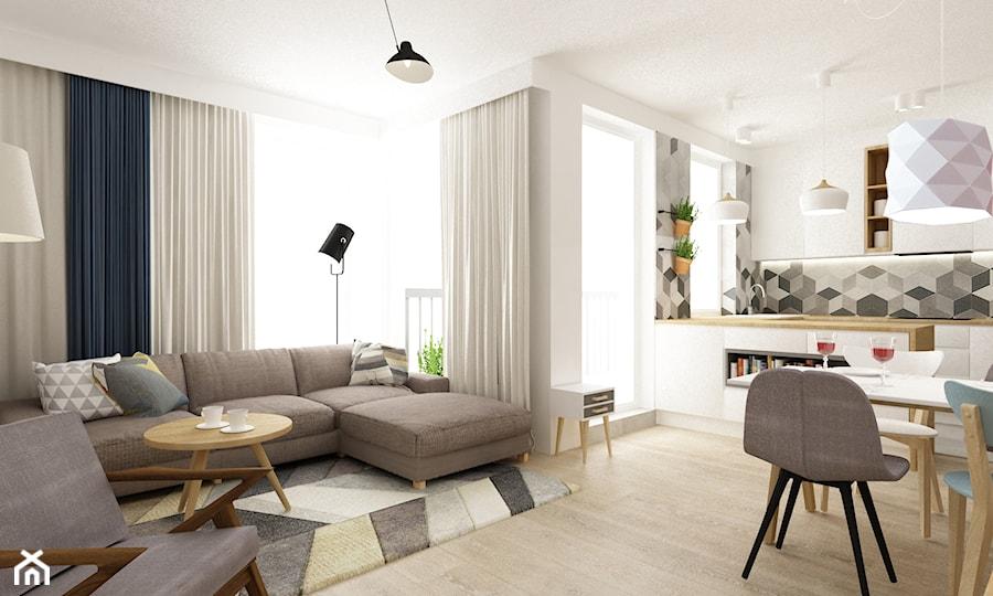 Mieszkanie 68m2 W Stylu Duńskim Duży Kolorowy Salon Z